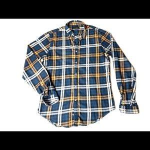 Mens SlimFit ZaraMan Flannel LongSleeve ButtonUp M